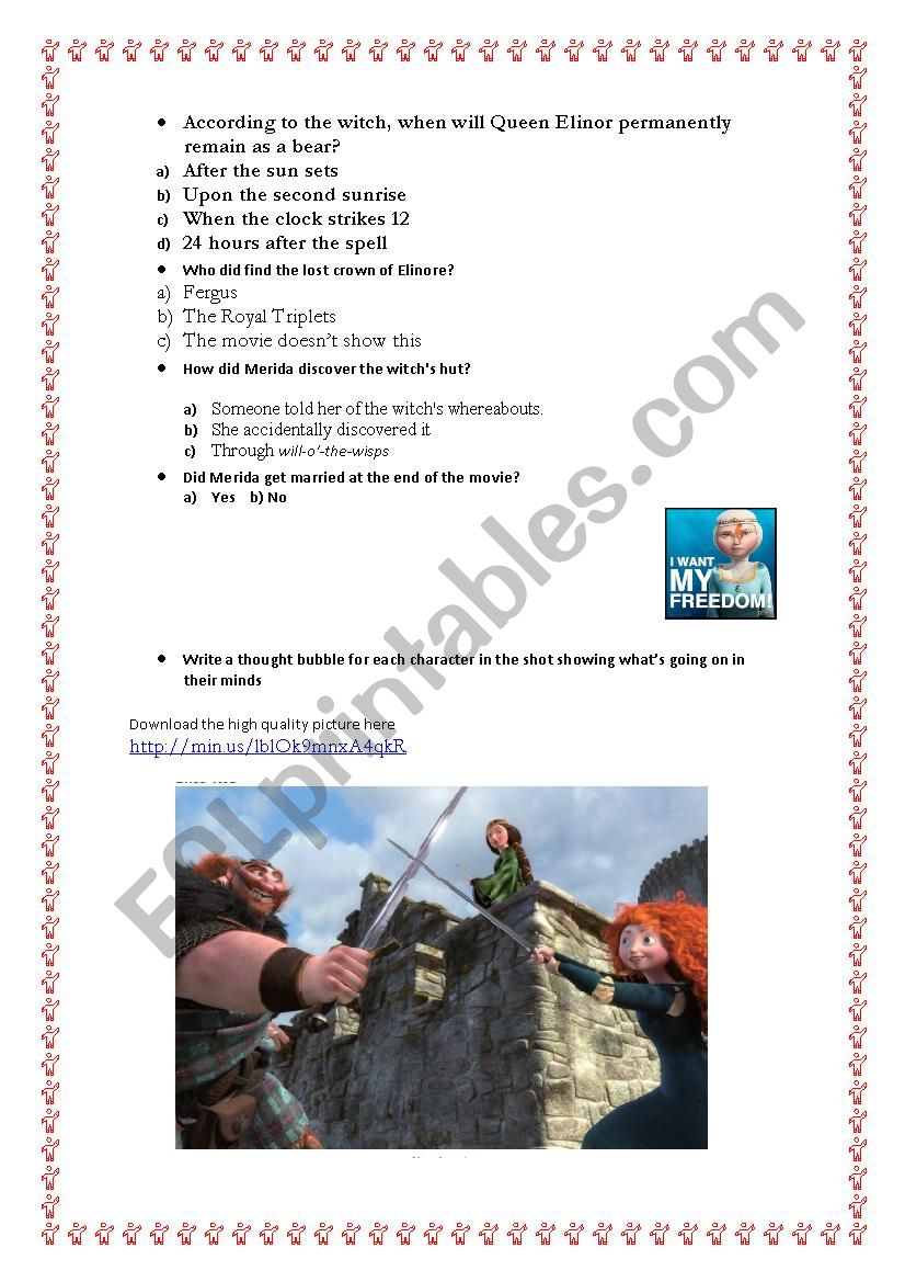 Brave-Movie Worksheet [Part 2]